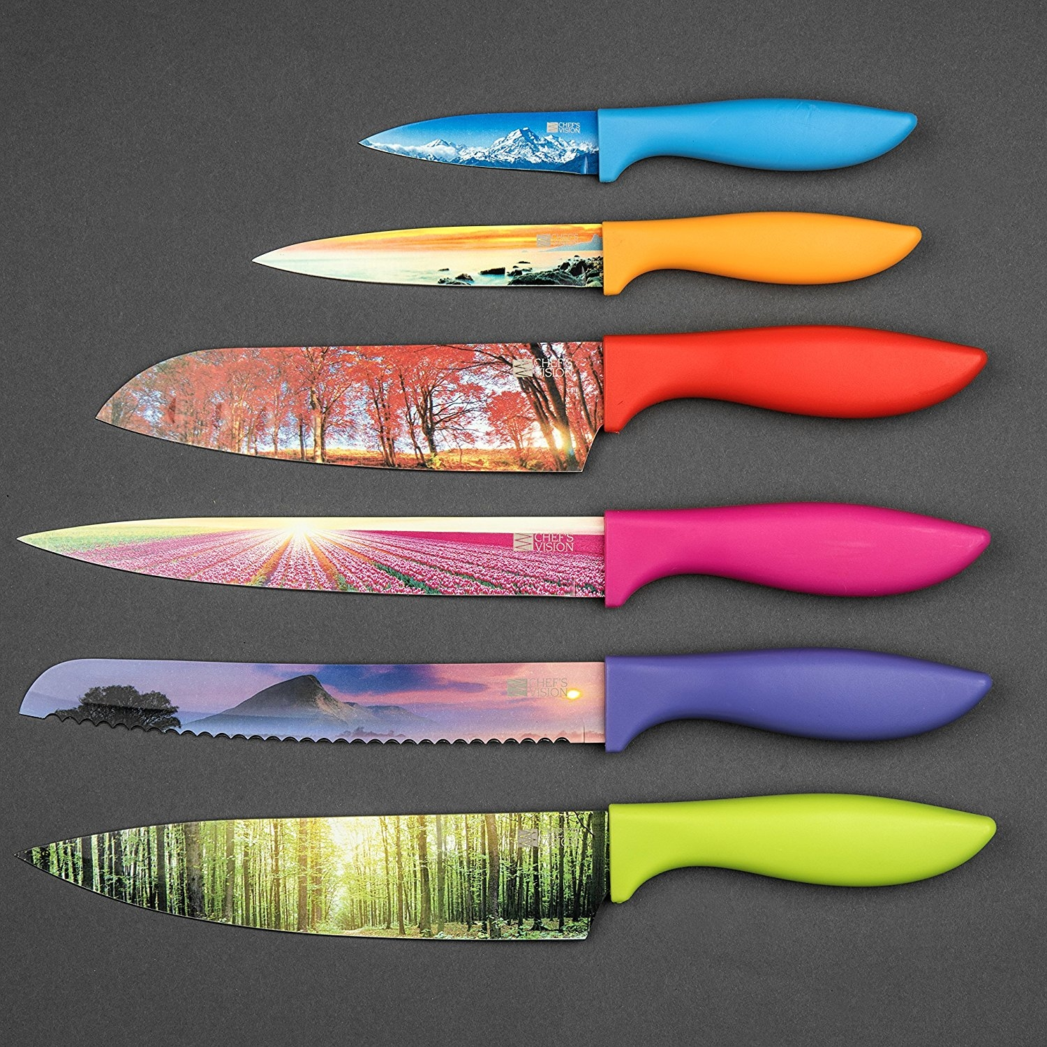 colored kitchen knives victorinox 4 knife set with fibrox handles best 2330