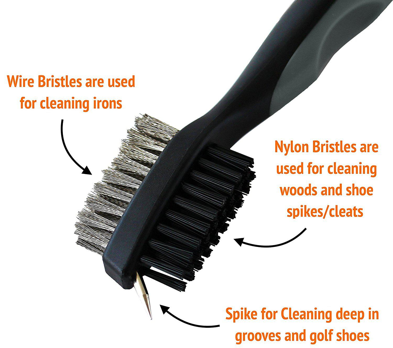 how to clean golf club grooves