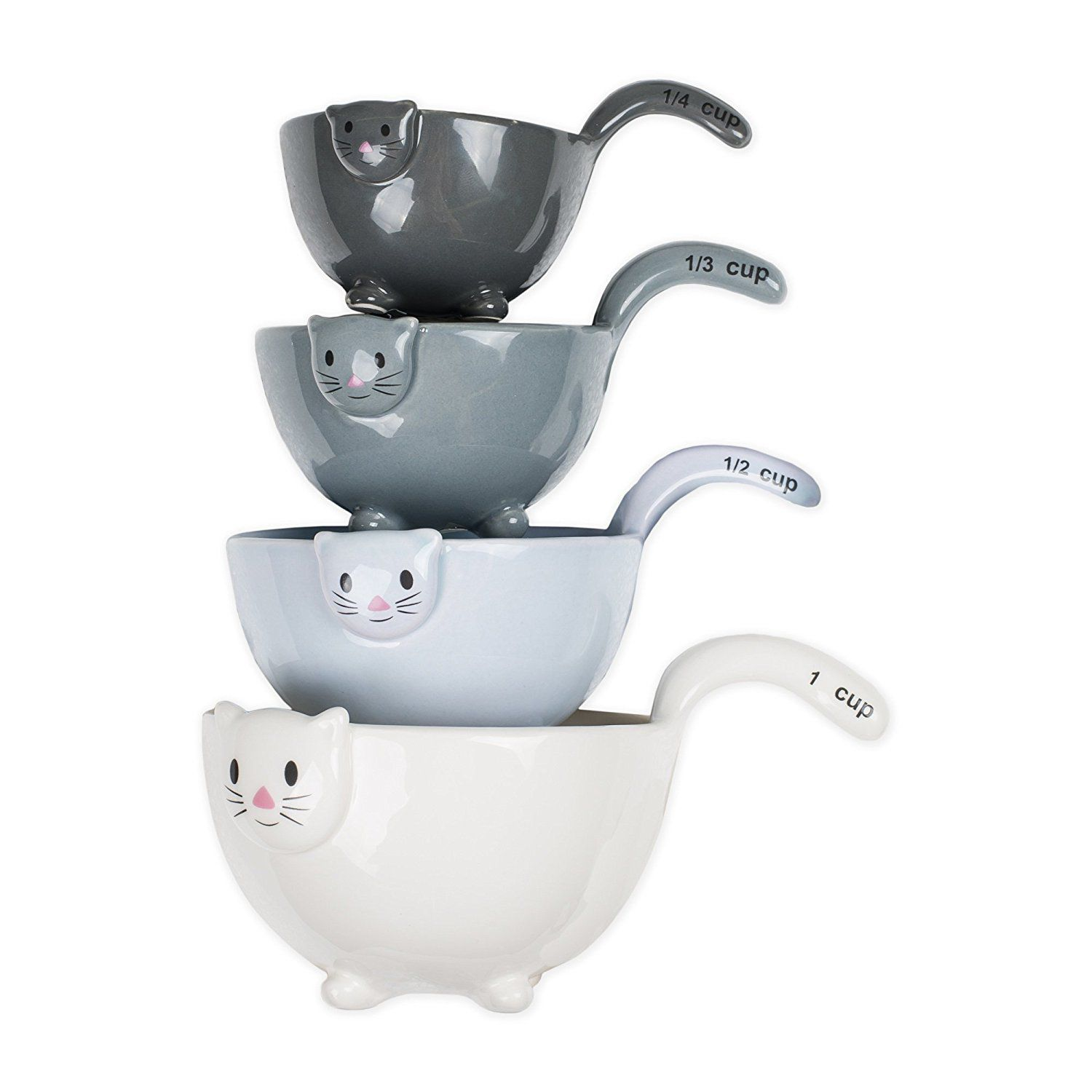 Ceramic Cat Measuring Cups Baking Bowls Best Offer
