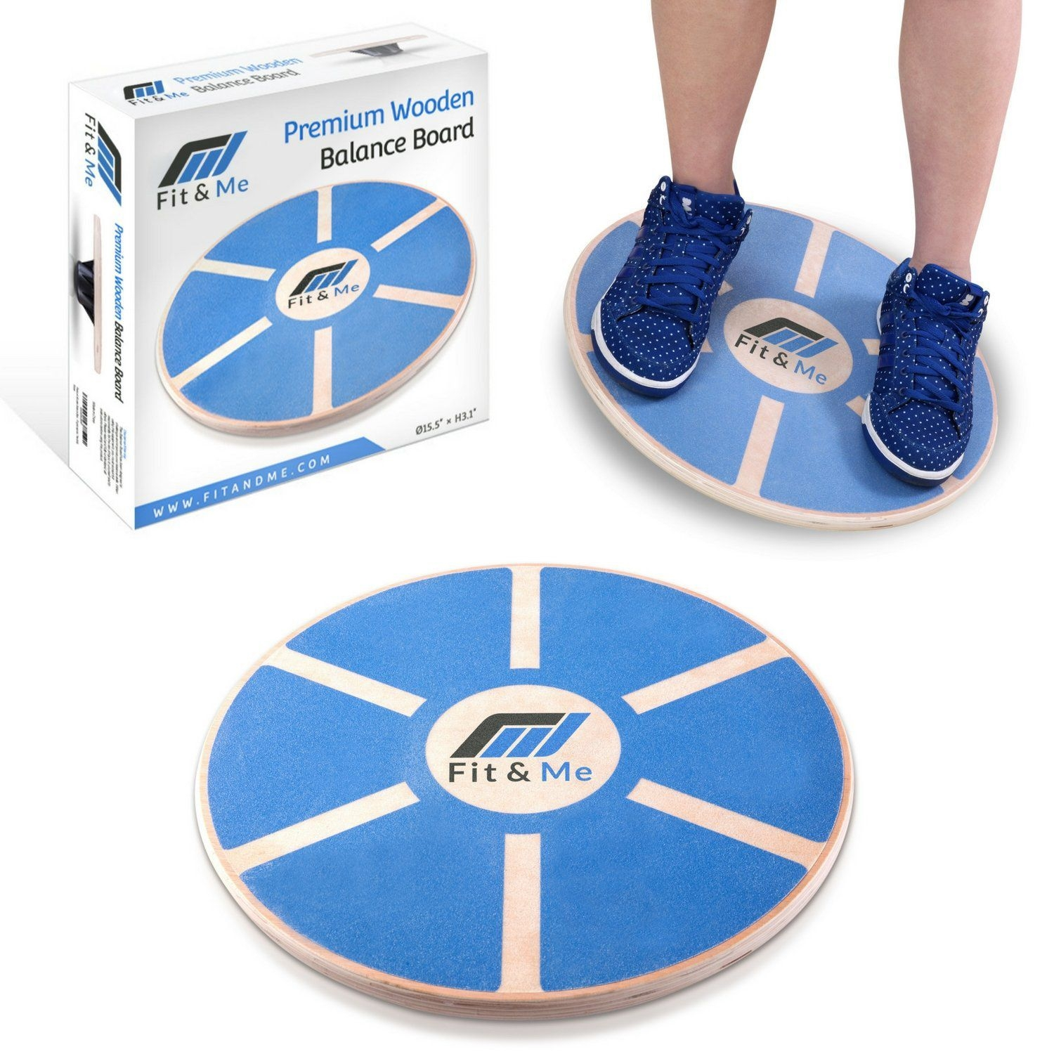 Balance Board Exercises For Back: Fit&Me Wooden Wobble Balance Board Video Exercises Best Offer