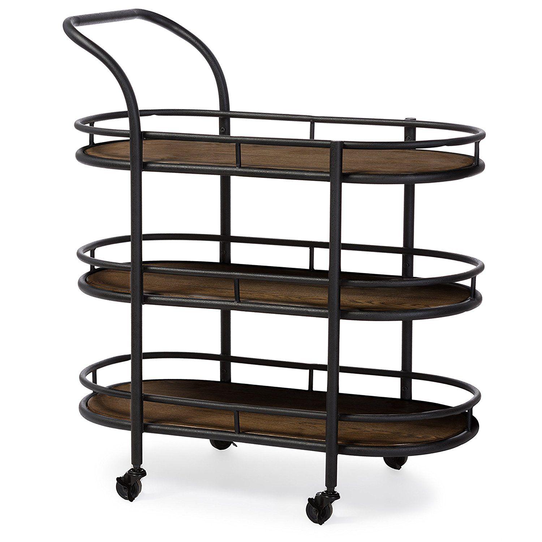Industrial Kitchen Cart Bar Cart Serving By Maverickindustrial: Industrial Style Kitchen Bar Serving Wine Cart Best Offer