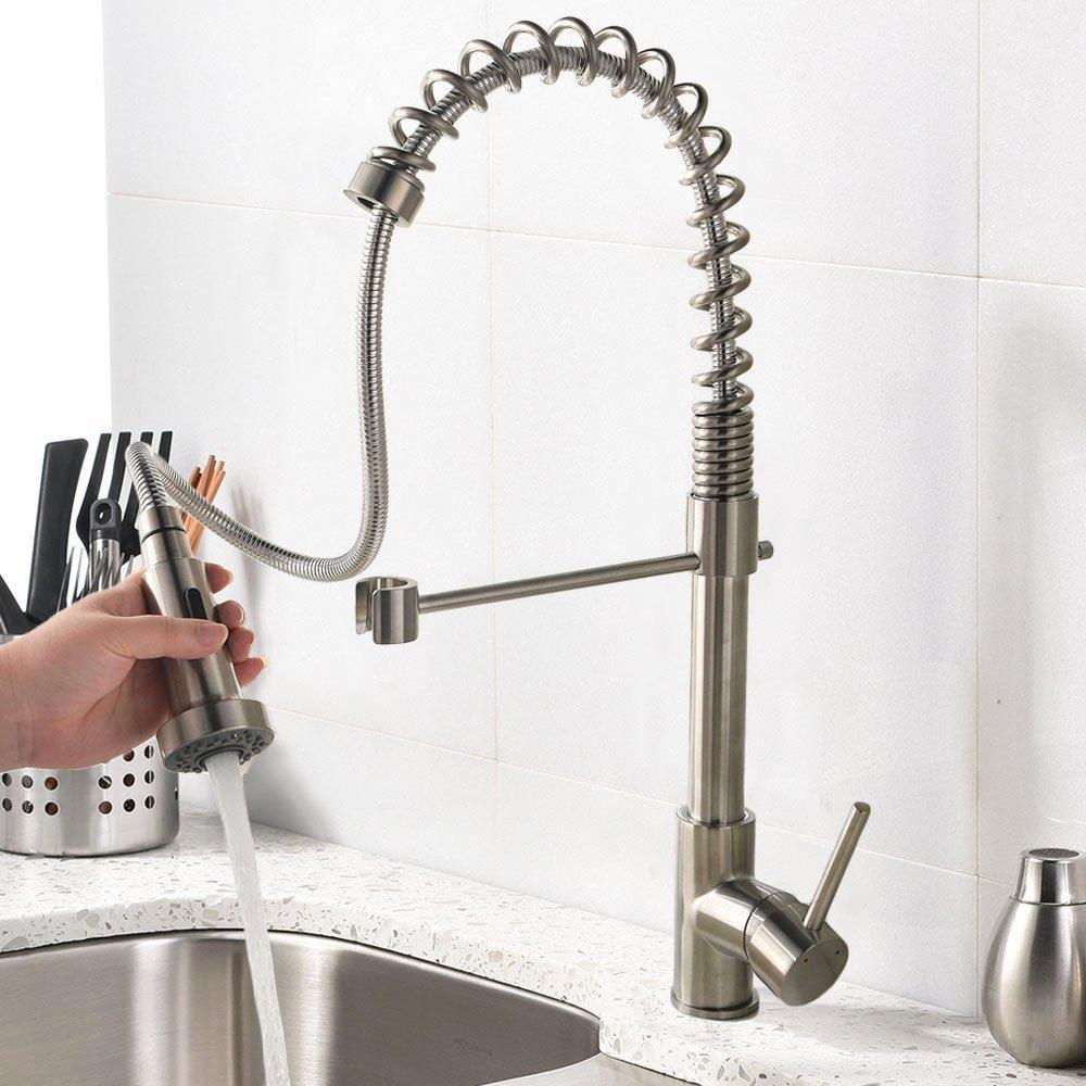 Single lever kitchen sink faucets best offer for Best faucets for kitchen sink