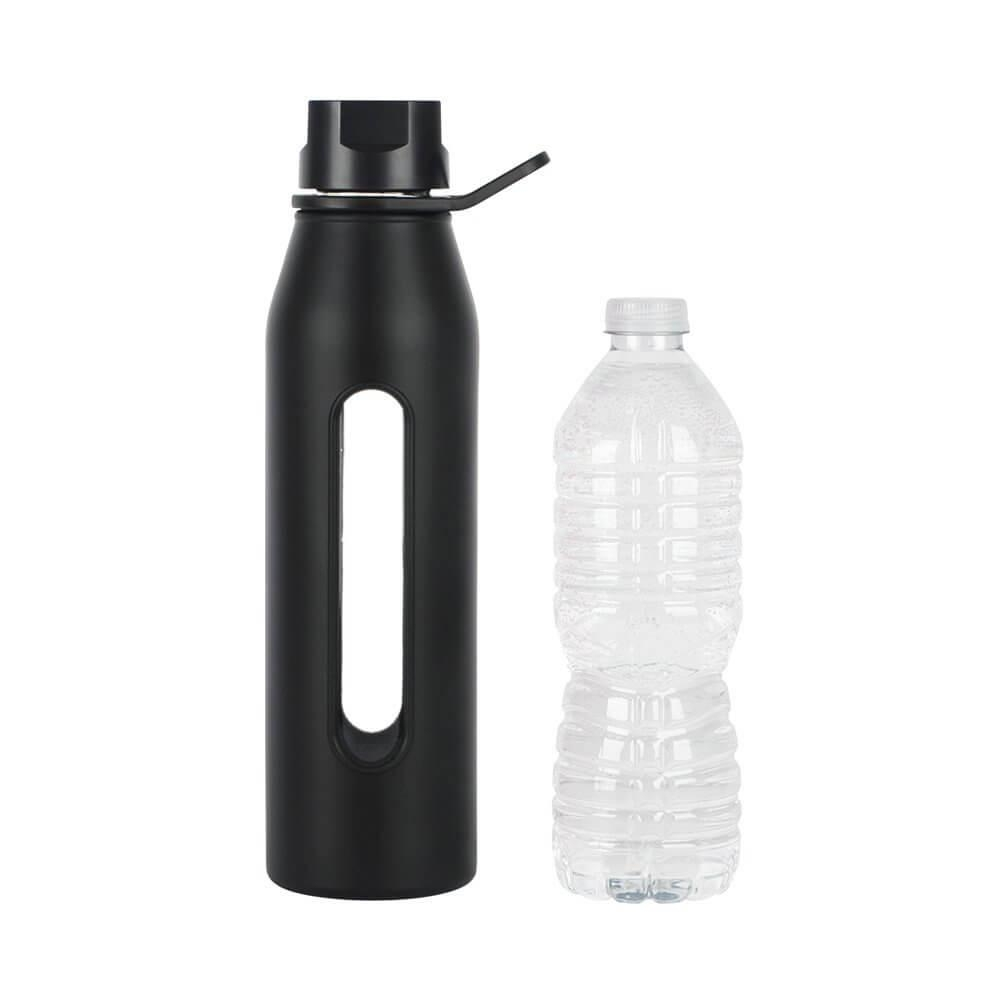 glass water bottle with silicone sleeve and twist cap best offer reviews. Black Bedroom Furniture Sets. Home Design Ideas