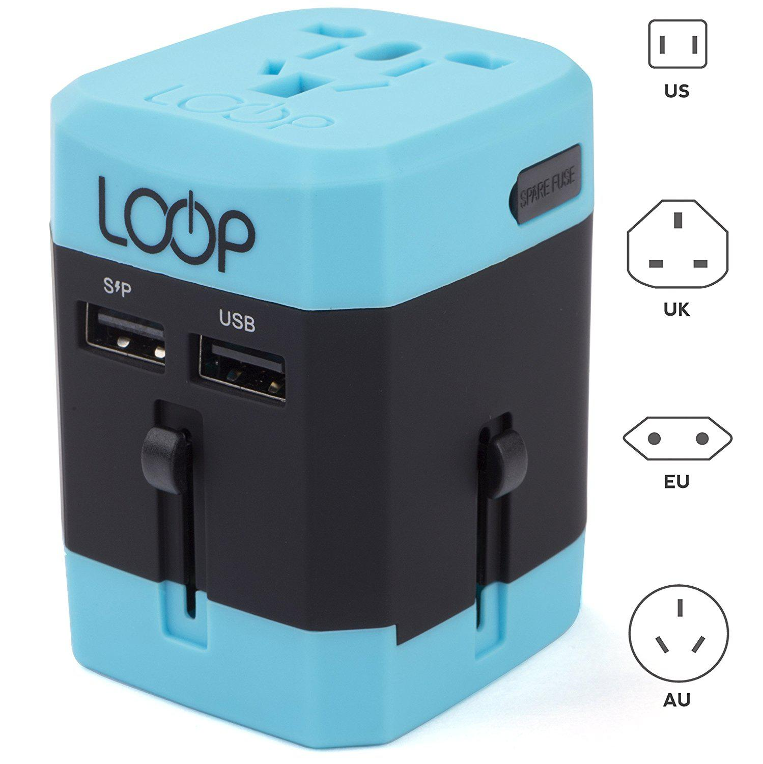 Loop World Adapter Plug Worldwide Travel Adapter Charger