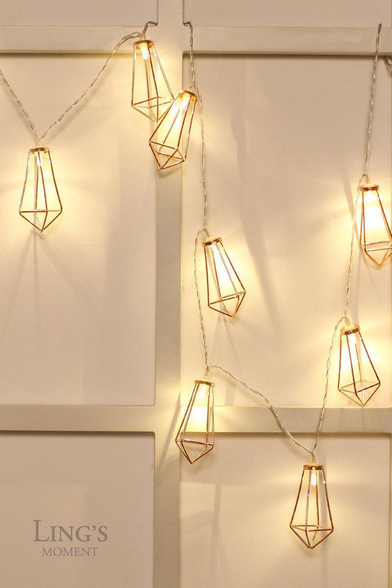 Rose Gold Geometric Boho Led Bedroom Fairy Lights Best
