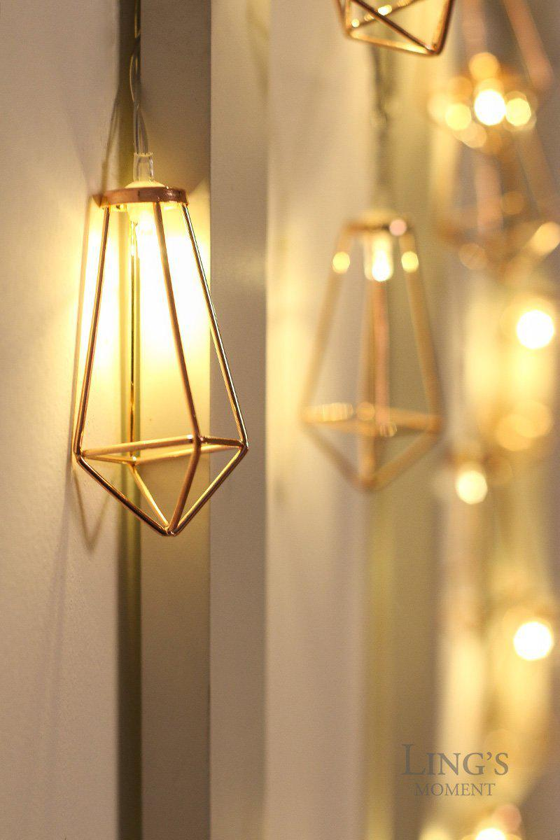 Rose Gold Geometric Boho Led Bedroom Fairy Lights Best Offer Ineedthebestoffer