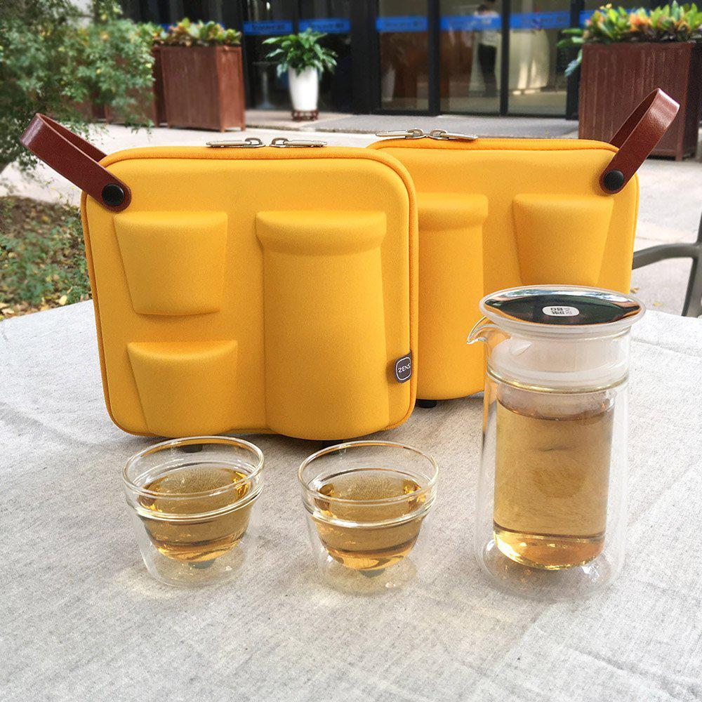 Zens Portable Tea Set 2 Travel Tea Cups Best Offer