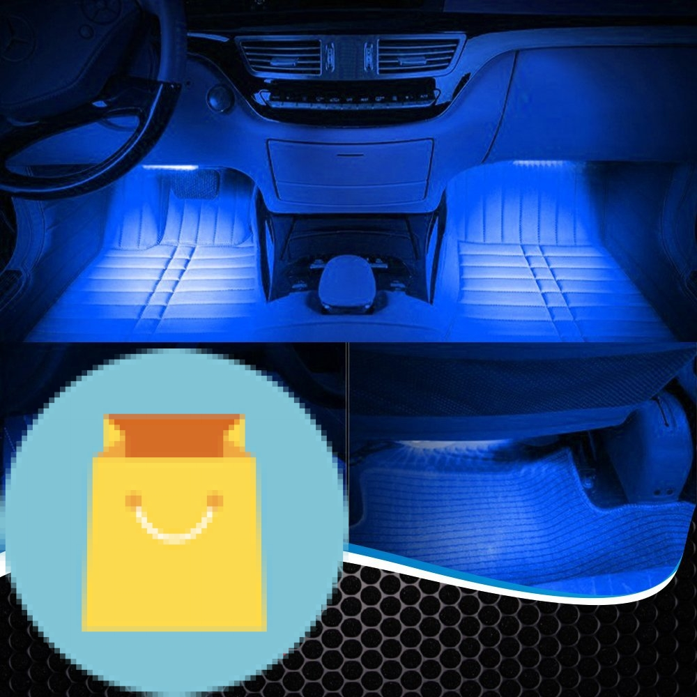 Car interior lights 7 colors and multiple patterns for front back underdash best offer reviews for Color changing interior car lights