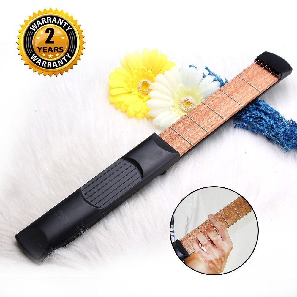 pocket guitar 6 fret portable guitar practice gadgets best offer. Black Bedroom Furniture Sets. Home Design Ideas