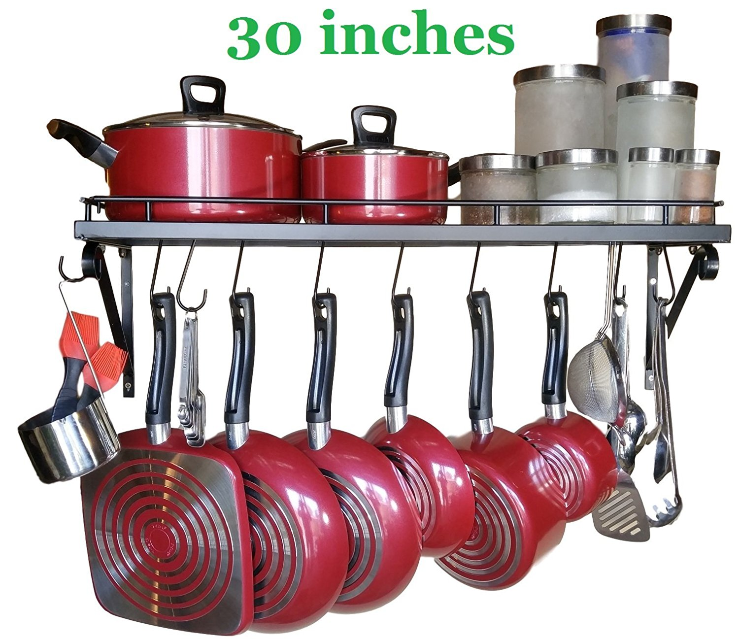 "30"" Wall mounted pots and pans rack Best Offer ..."