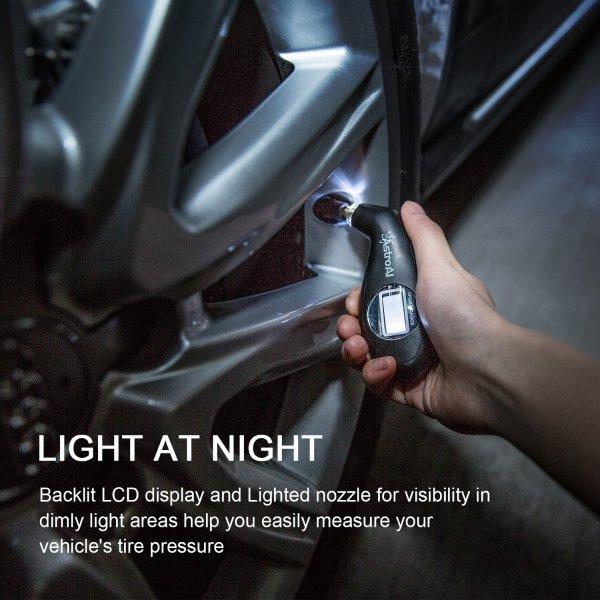 AstroAI Black Digital Tire Pressure Gauge 150