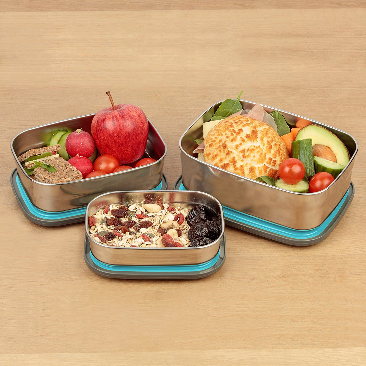 A2S Protection Bento Lunch Box-3pcs Set Meal Prep ...  |Bento Box Lunch Containers