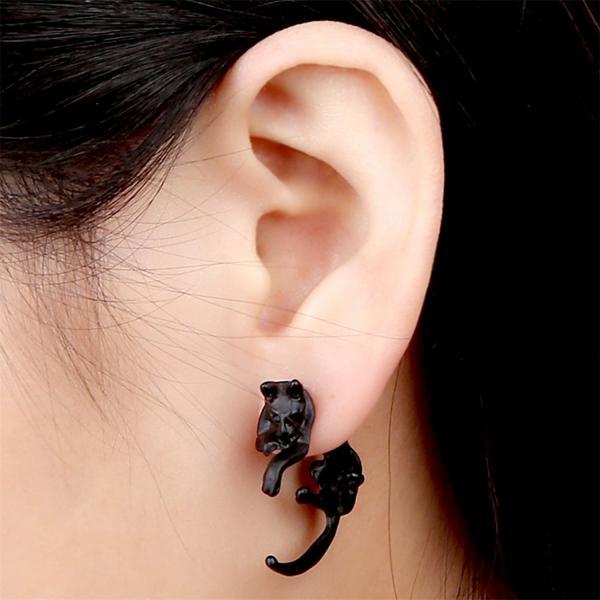 Cute Lovely Leopard Cat Piercing Earring