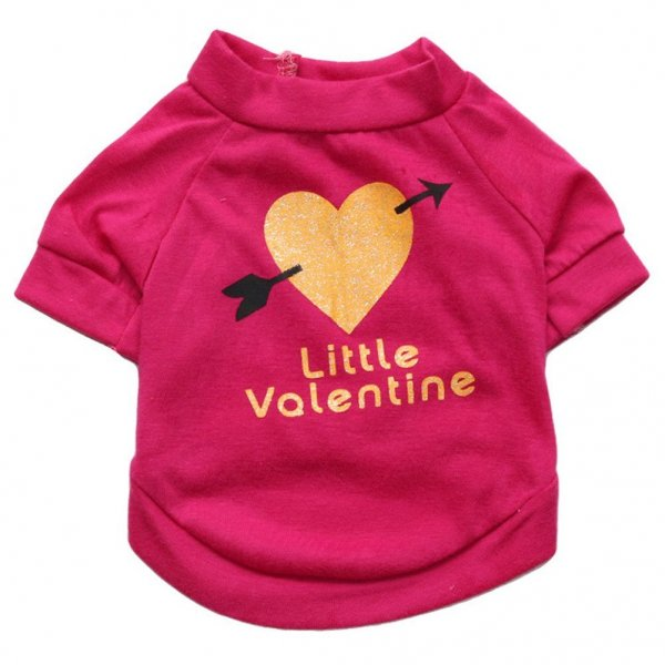Little Valentine Printed T-shirt Small Dogs