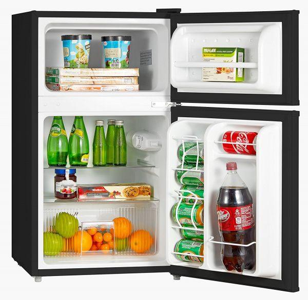 Midea Compact Reversible Double Door Refrigerator and Freezer