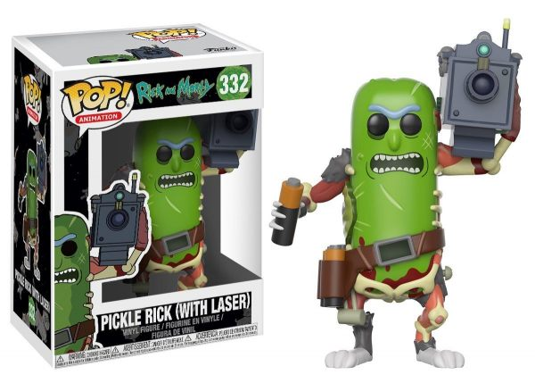 Morty-Pickle Rick with Laser Collectible Figure