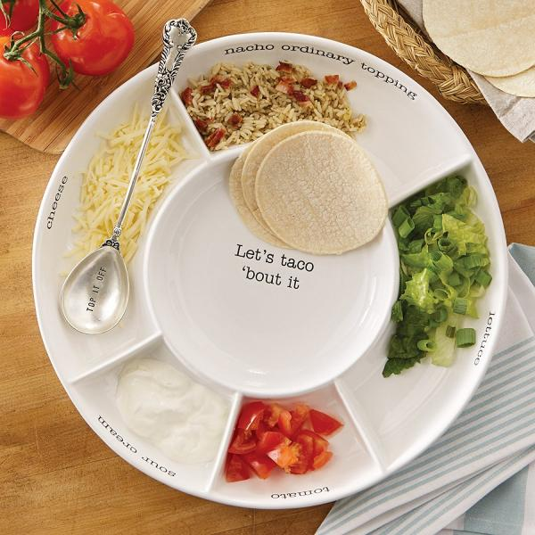 Mud Pie Taco bar Condiment Serving Platter