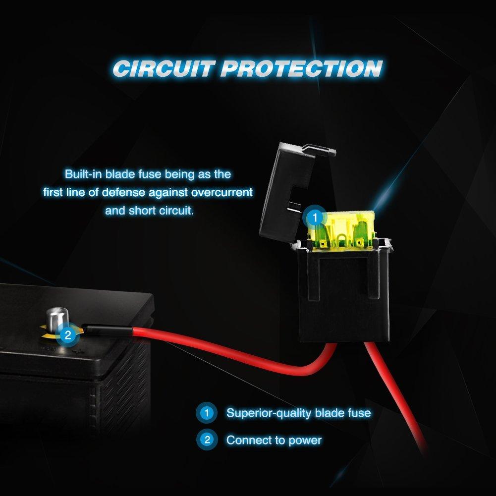 nilight led light bar wiring harness kit 12v on off switch. Black Bedroom Furniture Sets. Home Design Ideas