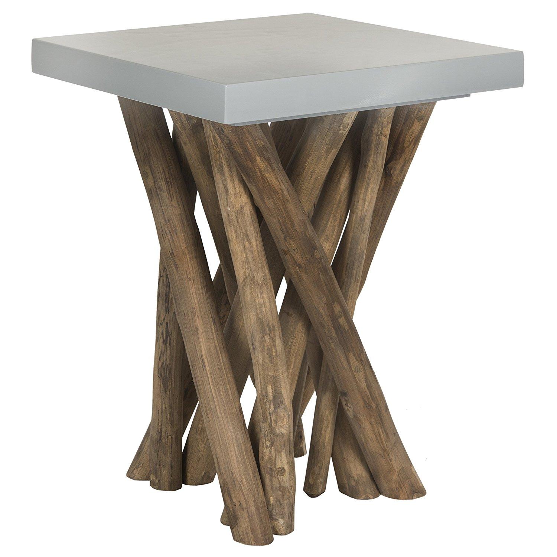 safavieh home collection hartwick grey side table best. Black Bedroom Furniture Sets. Home Design Ideas