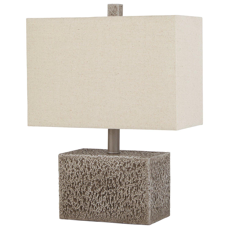 stone beam modern slate rock table lamp best offer. Black Bedroom Furniture Sets. Home Design Ideas