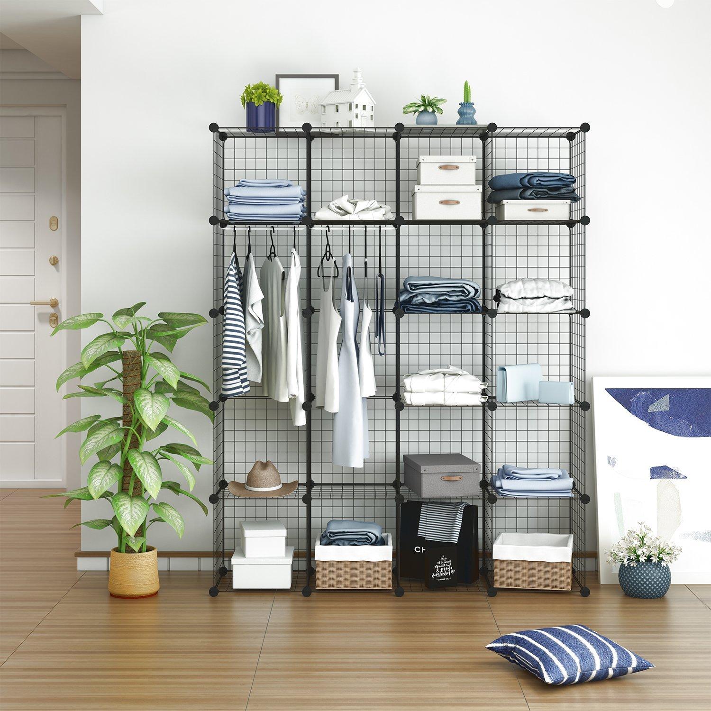 Tespo Wire Cube Storage Shelves Book Shelf Metal Best Offer