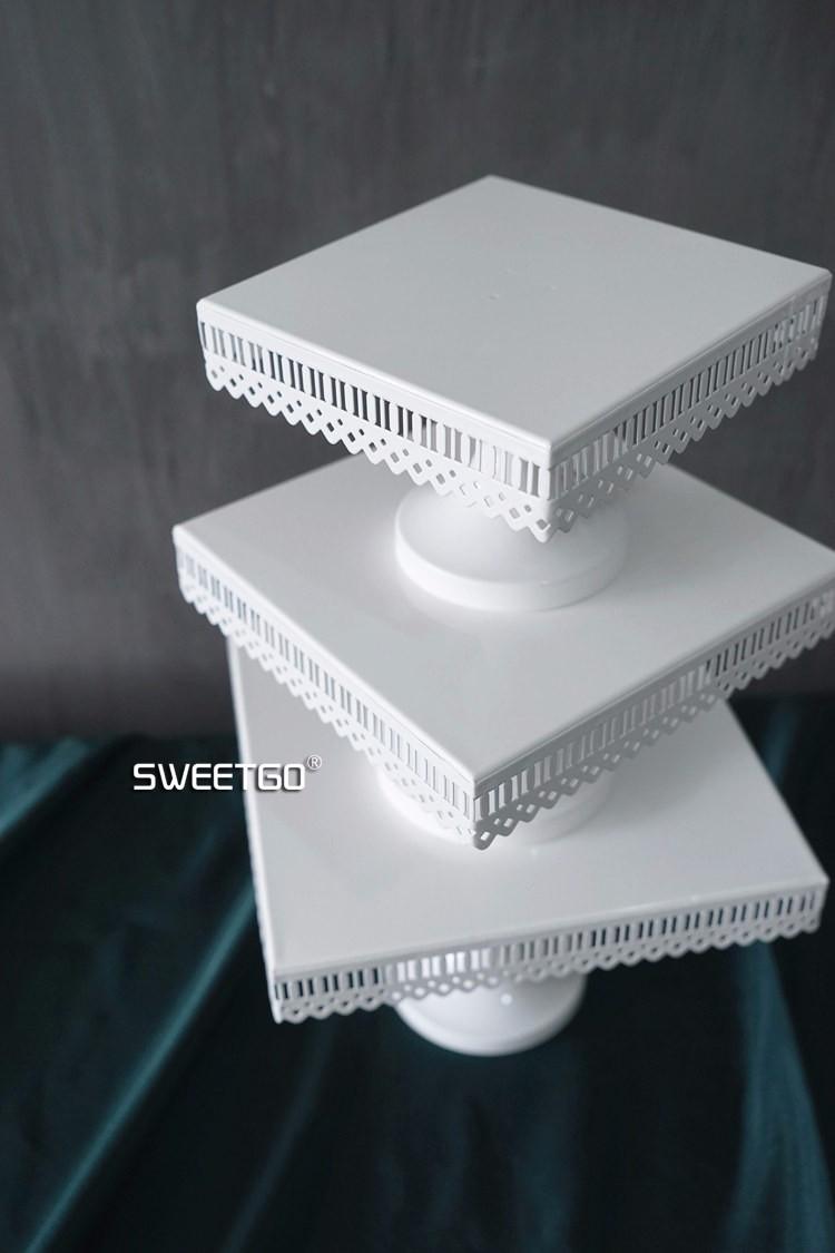 White Square Cake Stand Best Offer Ineedthebestoffer Com