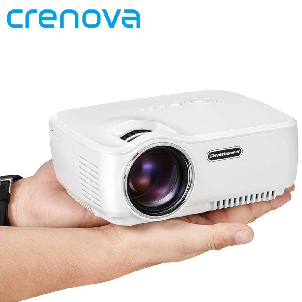 Fuleadture Portable Led Projector 1080p Hd Multimedia: Crenova Mini Portable LED Projector Support FULL HD 1080P