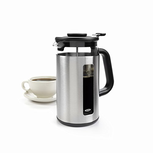 oxo good grips easy clean french press coffee maker 8 cup best offer reviews. Black Bedroom Furniture Sets. Home Design Ideas