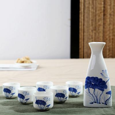 Japanese Sake Porcelain Cups Set