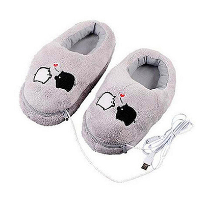 USB Heat Plush Slippers
