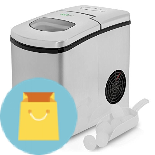 NutriChef Upgraded Digital Portable Ice Maker Machine