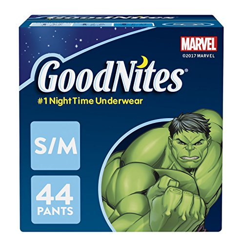 GoodNites Bedtime Bedwetting Underwear for Boys, S-M, 44-Count