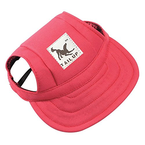 WINOMO WINOMO Pet Dog Sports Hat Pet Dog Oxford Fabric Hat Sports Baseball Cap With Ear Holes For Small Dogs - Size S (Red)