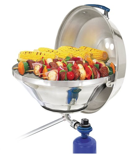 Magma Products, Marine Kettle Gas Grill with Hinged Lid, Party Size