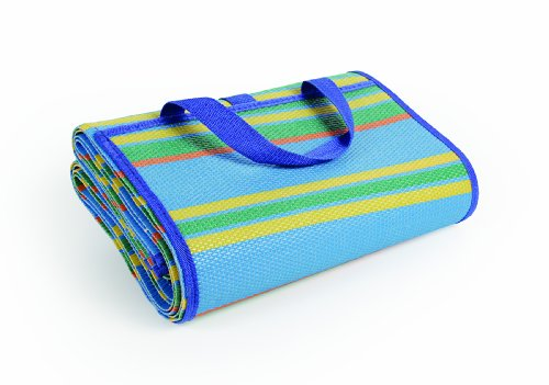 """Camco Handy Mat with Strap, Perfect for Picnics, Beaches, RV and Outings, Weather-Proof and Mold/Mildew Resistant (Blue/Green - 60"""" x 78"""")"""