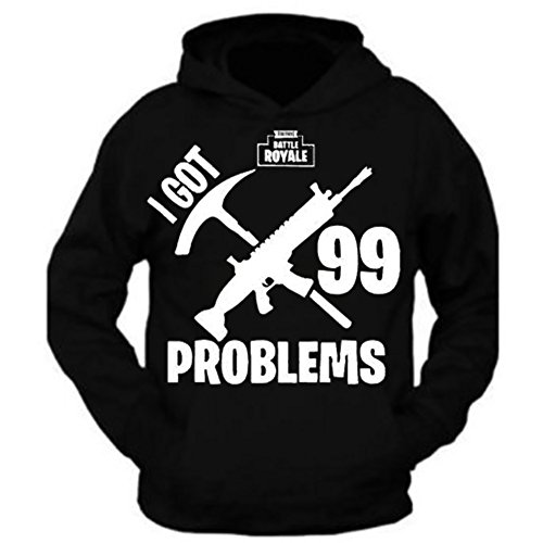 G&II Fortnite Battle Royale 99 Problems Hoodie Sweatshirt (M)