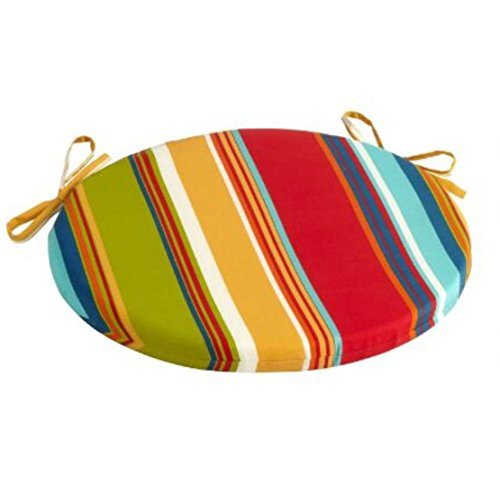 "Alfresco Fiesta Stripe Indoor/Outdoor Bistro Chair Cushion 15"""