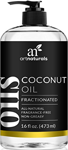 ArtNaturals Premium Fractionated Coconut Oil - (16 Fl Oz / 473ml) - 100% Natural & Pure – Therapeutic Grade Carrier and Massage Oil – for Hair and Skin or Diluting Aromatherapy Essential Oils