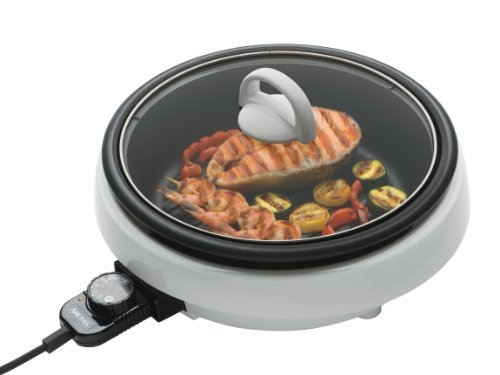 Aroma Housewares 3-Quart/10-inch 3-in-1 Super Pot with Grill Plate