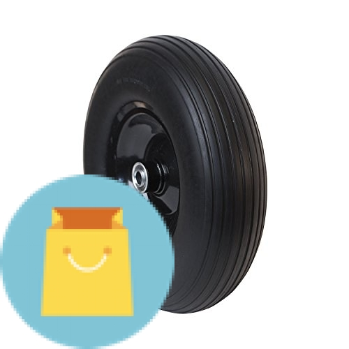 Anti Flat Ribbed Replacement Wheels for Wheelbarrow 13 Inch