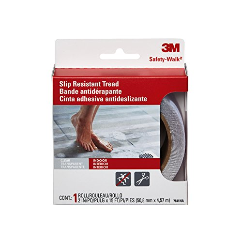 3M Safety-Walk Tub and Shower Tread, Clear, 2-Inch by 180-Inch Roll