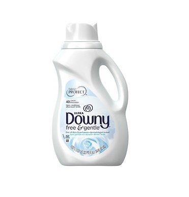 Downy Free & Gentle Liquid Fabric Conditioner (Fabric Softener), 34 fl.oz (Pack of 6)