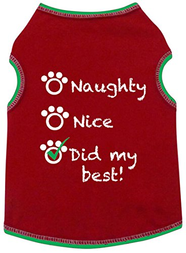 I See Spot Naughty Nice Red Did My Best Holiday Dog Tank Tee