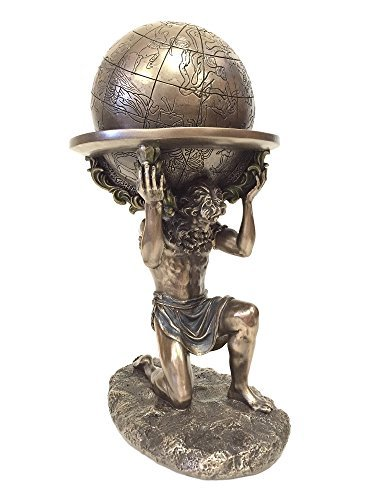 Greek Titan Atlas Carrying the World Statue (Bronze)
