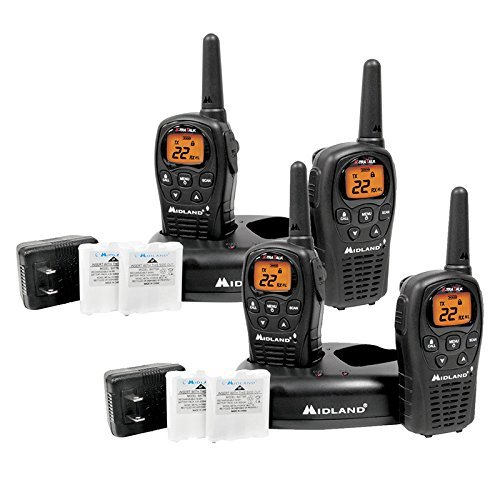 4-Pack Midland Two Way Radio, Rechargeable Batteries and Chargers