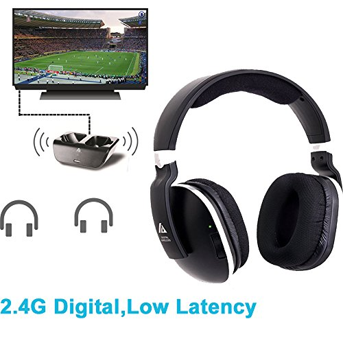 Wireless Headphones for TV with RF Transmitter For Netflix Hulu