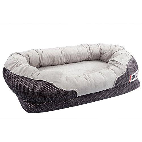 BarksBar Large Gray Orthopedic Dog Bed - 40 x 30 inches