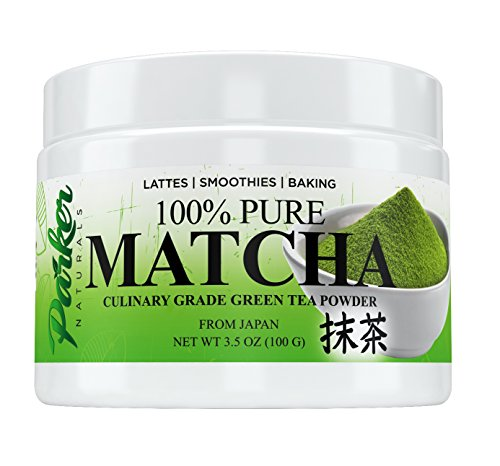 100% Organic Japanese Culinary Grade Matcha Tea Powder By Parker Naturals. Naturally Boosts Energy, Focus & Metabolism. Helps You Lose Weight, Perform Better At Work, and Relax After Your Long Day