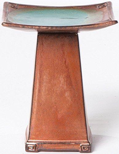 Alfresco Home Zen Ceramic Bird Bath, Regular, Copper