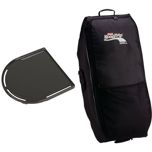Coleman RoadTrip Swaptop Cast Iron Griddle and Coleman RoadTrip Wheeled Carry Case Bundle